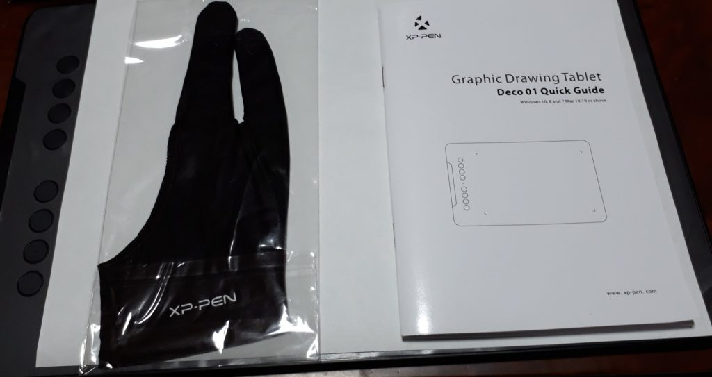 XP-PEN DECO01二本指グローブ・マニュアル