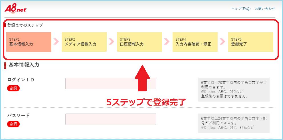 a8.net登録